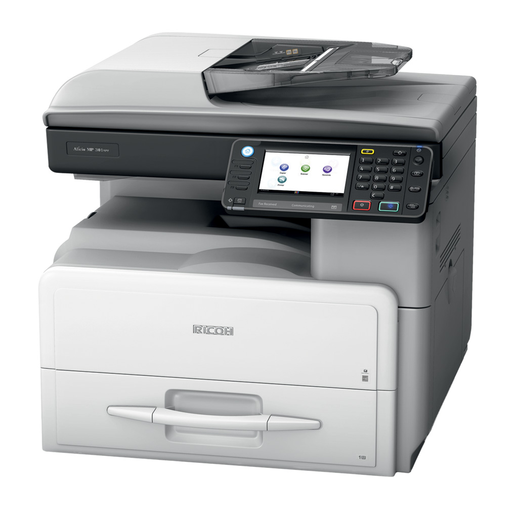 Ricoh MP-301SPF A4 black and white multifunction printer